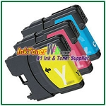 Brother LC61 Compatible ink Cartridges - 3 Piece Combo