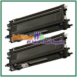Brother TN210BK Compatible Black Toner Cartridges - 2 Piece