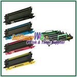 Brother DR-110CL, TN110BK, TN110C, TN110M, TN110Y  Compatible toner cartridges (High Yield)  & drum Unit - 5 Piece Combo