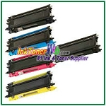 Brother TN210BK, TN210C, TN210M, TN210Y High Yield Compatible Toner Cartridges - 5 Piece Combo