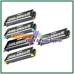 Dell 3110cn/3115cn High Yield Black Cyan Magenta Yellow Compatible Toner Cartridges - 5 Piece Combo