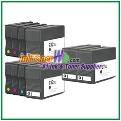 hp 932xl 933xl cn053an cn056an compatible ink cartridges 10 piece combo. Black Bedroom Furniture Sets. Home Design Ideas