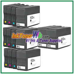 hp 932xl 933xl cn053an cn056an compatible ink cartridges 14 piece combo. Black Bedroom Furniture Sets. Home Design Ideas