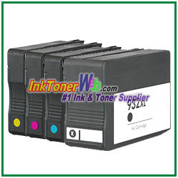 hp 932xl 933xl cn053an cn056an compatible ink cartridges 4 piece combo. Black Bedroom Furniture Sets. Home Design Ideas
