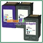 HP 27 28 Compatible ink Cartridges - 3 Piece Combo