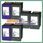 HP 27 28 Compatible ink Cartridges - 6 Piece Combo
