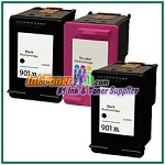 HP 901XL 901 Compatible ink Cartridges - 3 Piece Combo