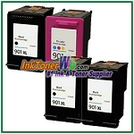HP 901XL 901 Compatible ink Cartridges - 4 Piece Combo