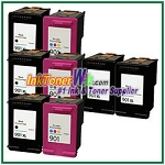 HP 901XL 901 Compatible ink Cartridges - 8 Piece Combo