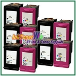 HP 901XL 901 Compatible ink Cartridges - 10 Piece Combo