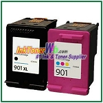 HP 901XL 901 Compatible ink Cartridges - 2 Piece Combo