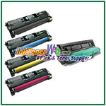 HP 121A C9700-04A Compatible Toner Cartridges & Laser Imaging Drum - 5 Piece Combo