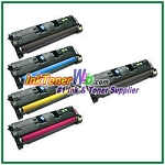 HP 121A C9700-03A Compatible Toner Cartridges - 5 Piece Combo