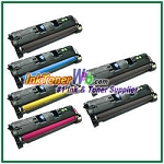 HP 121A C9700-03A Compatible Toner Cartridges - 6 Piece Combo