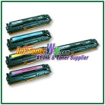 HP 125A CB540-43A Compatible Toner Cartridges - 5 Piece Combo