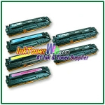 HP 125A CB540-43A Compatible Toner Cartridges - 6 Piece Combo