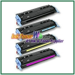 HP 124A Q6000-03A Compatible Toner Cartridges - 4 Piece Combo