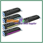 HP 124A Q6000-03A Compatible Toner Cartridges - 5 Piece Combo