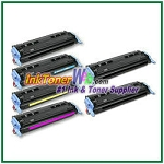 HP 124A Q6000-03A Compatible Toner Cartridges - 6 Piece Combo