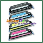 HP 501A / 502A Q6470-73A Compatible Toner Cartridges - 4 Piece Combo