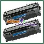 HP 53A Q7553A Compatible Toner Cartridge - 2 Piece