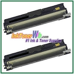 Konica Minolta A0V3 01F High Yield Compatible Black Toner Cartridges ( for magicolor 1600W ) - 2 Piece