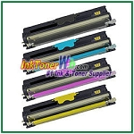 Konica Minolta A0V3 01F, A0V3 0HF, A0V3 0CF, A0V3 06F High Yield Compatible Toner Cartridges ( for magicolor 1600W) - 4 Piece Combo