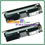 Konica Minolta 1710587-004 High Yield Compatible Black Toner Cartridge ( for magicolor 2400/2500 ) - 2 Piece