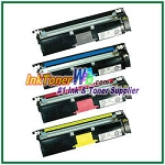 Konica Minolta 1710587-004, -007, -006, -005 High Yield Compatible Toner Cartridges ( for magicolor 2400/2500 ) - 4 Piece Combo