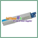 OKI Data 43459303 High Yield Compatible Cyan Toner Cartridge for C3400n/C3530n MFP/C3600n/MC360n MFP
