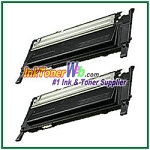 Black Toner Cartridge Compatible with Samsung CLP310/315 CLT-K409S - 2 Piece