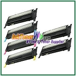 Toner Cartridge Compatible with Samsung CLP310/315 CLT-K409S CLT-C409S CLT-M409S CLT-Y409S High Yield - 6 Piece Combo