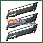 Color Toner Cartridge Compatible with Samsung CLT-C406S CLT-M406S CLT-Y406S High Yield - 3 Piece Combo