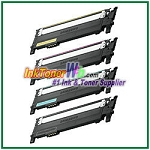Toner Cartridge Compatible with Samsung CLT-K406S CLT-C406S CLT-M406S CLT-Y406S High Yield - 4 Piece Combo