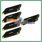 Toner Cartridge Compatible with Samsung CLP-510D7K CLP-510D5C CLP-510D5M CLP-510D5Y High Yield - 5 Piece Combo