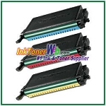 Toner Cartridge Compatible with Samsung CLP-C660B CLP-M660B CLP-Y660B High Yield - 3 Piece Combo