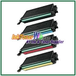 Toner Cartridge Compatible with Samsung CLP-K660B CLP-C660B CLP-M660B CLP-Y660B High Yield - 4 Piece Combo