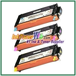 Xerox 106R01392-94 Compatible High Yield Toner Cartridges for Phaser 6280 series - 3 Piece Combo