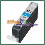 Canon CLI-221 CLI-221C Compatible Cyan ink Cartridge