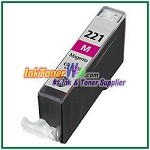 Canon CLI-221 CLI-221M Compatible Magenta ink Cartridge