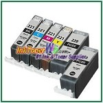Canon PGI-220 CLI-221 Compatible ink Cartridges - 6 Piece Combo