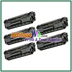 Canon 104 (FX-9/FX-10) Compatible Toner Cartridges - 5 Piece