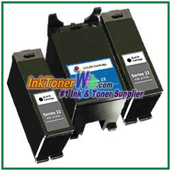 Dell Series 22 Compatible ink Cartridges - 3 Piece Combo