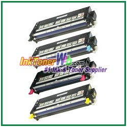 Dell 3110cn/3115cn High Yield Black Cyan Magenta Yellow Compatible Toner Cartridges - 4 Piece Combo