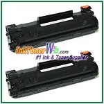 HP CB435AD (CB435AD#004) 35A Compatible Toner Cartridges - Dual Pack
