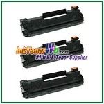 HP 35A CB435A  Compatible Toner Cartridges - 3 Piece