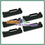 HP 35A CB435A  Compatible Toner Cartridges - 5 Piece
