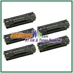 HP 36A CB436A  Compatible Toner Cartridge - 5 Piece
