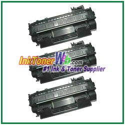 HP 05A CE505A Compatible Toner Cartridges - 3 Piece