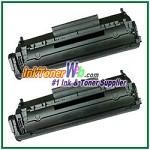 HP 12X Q2612X High Yield Compatible Toner Cartridges - 2 Piece